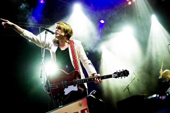 2010-07-03 - Markus Krunegård performs at Peace & Love, Borlänge