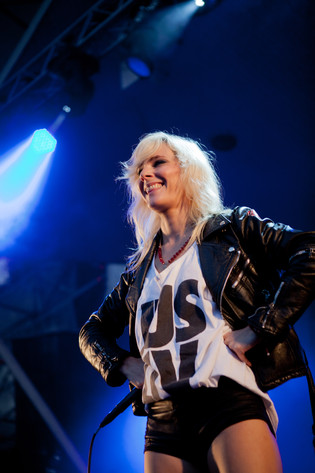 2011-07-28 - The Sounds performs at Storsjöyran, Östersund