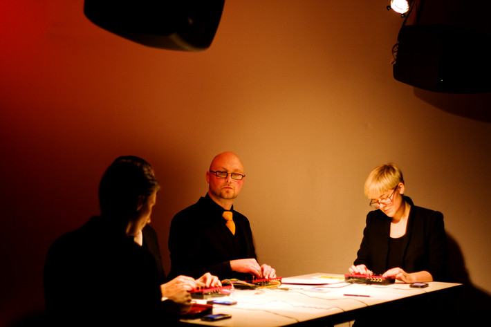 2012-01-21 - The Micro Modular Quartet performs at Audiorama, Stockholm