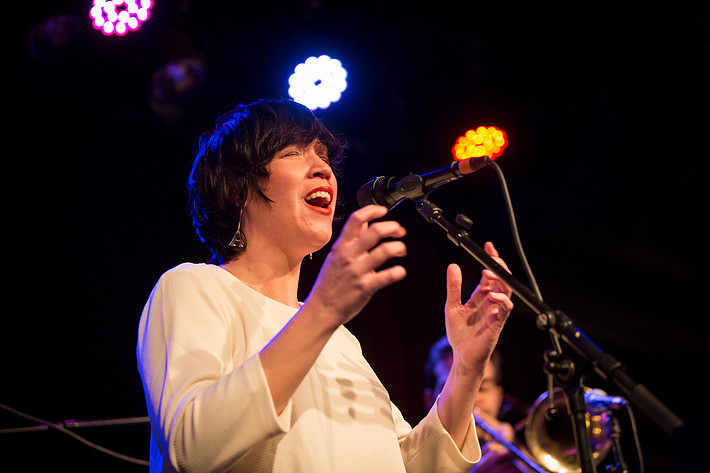 2014-12-17 - Anna Lundqvist Brass Magic performs at Fasching, Stockholm